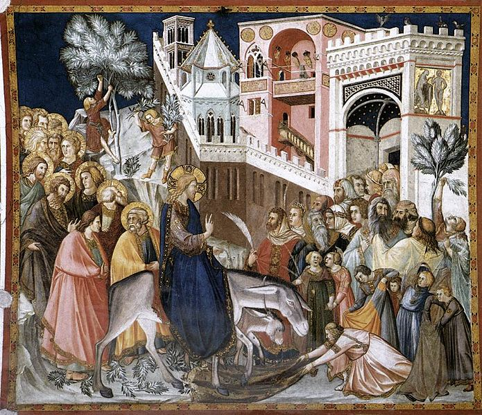 695px-Pietro Lorenzetti - Entry of Christ into Jerusalem - WGA13502